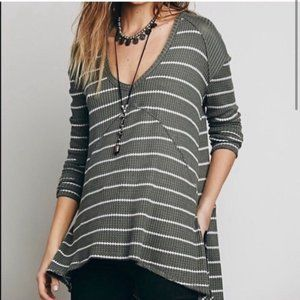 Free People - Striped Sunset Park Thermal Top - S